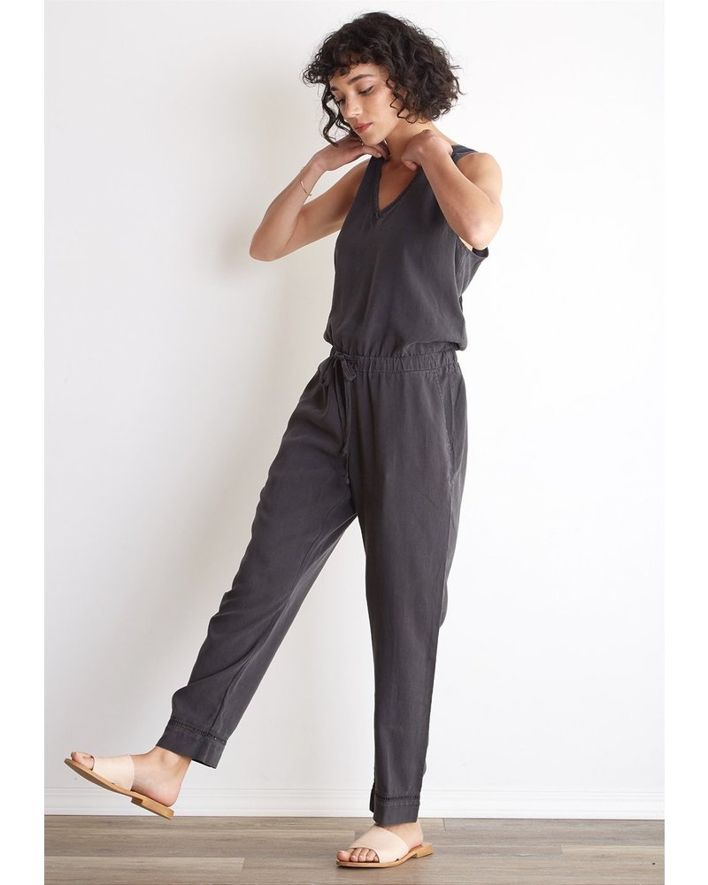 Bella Dahl Trimmed Crossback Jumpsuit