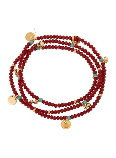 Shashi Eliza Crystal Bracelet Maroon 5