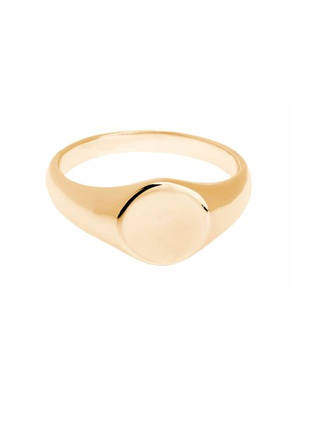 Shashi Signet Ring Yellow-Gold Size 5