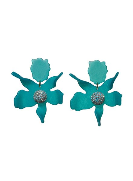 Lele Sadoughi Crystal Lily Clip Earrings