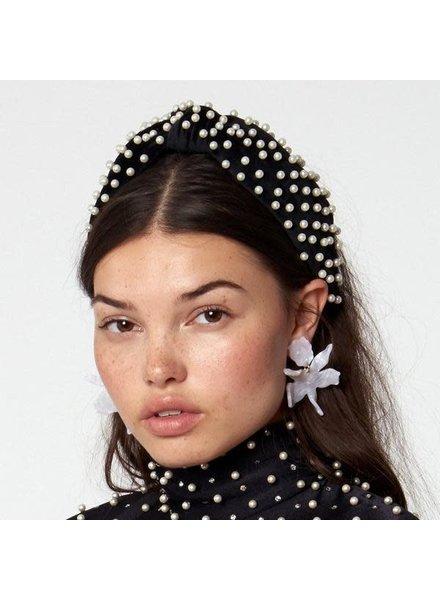 Lele Sadoughi Woven  Pearl Knotted Headband