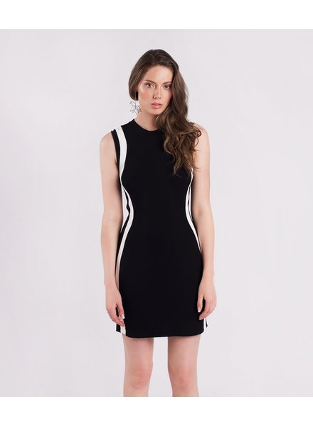 Amanda Maria Short Bamboo Striped Dress