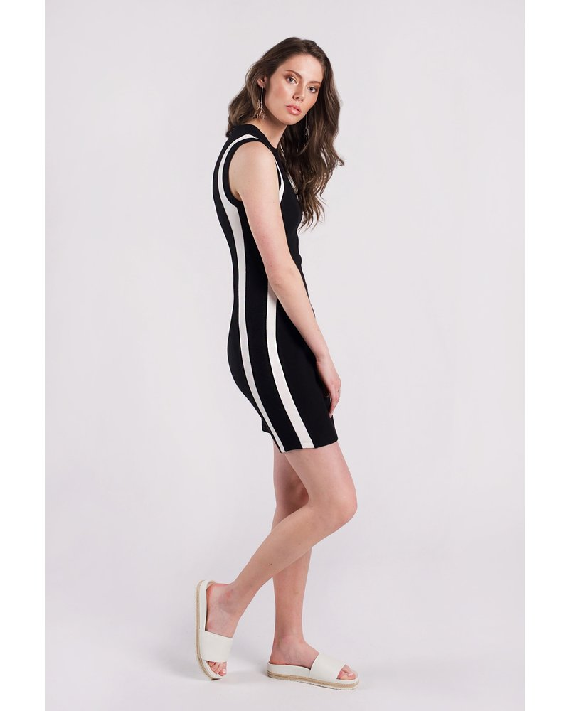 Amanda Maria Short Bamboo Striped Dress
