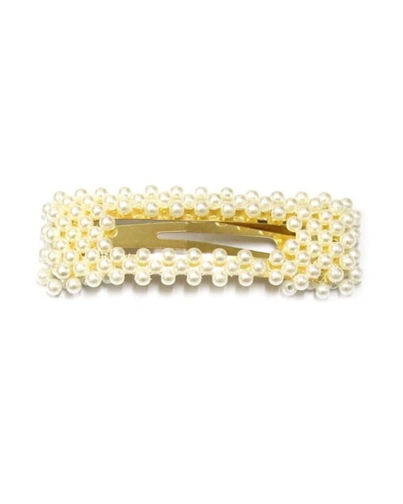 Girly Pearl Rectangle Hair Clip