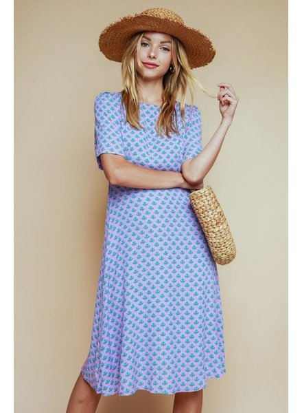 Olivaceous Cacti Midi Dress