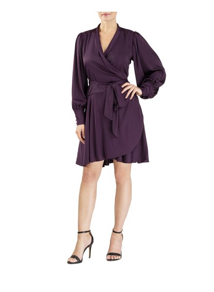 Forest Lily Ruffled Wrap Dress