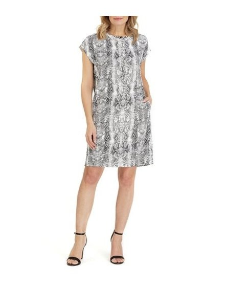 Forest Lily Snake Skin Shift Dress