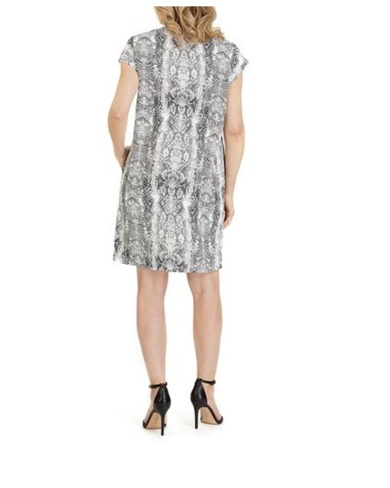 Forest Lily Snake Skin Shift Dress