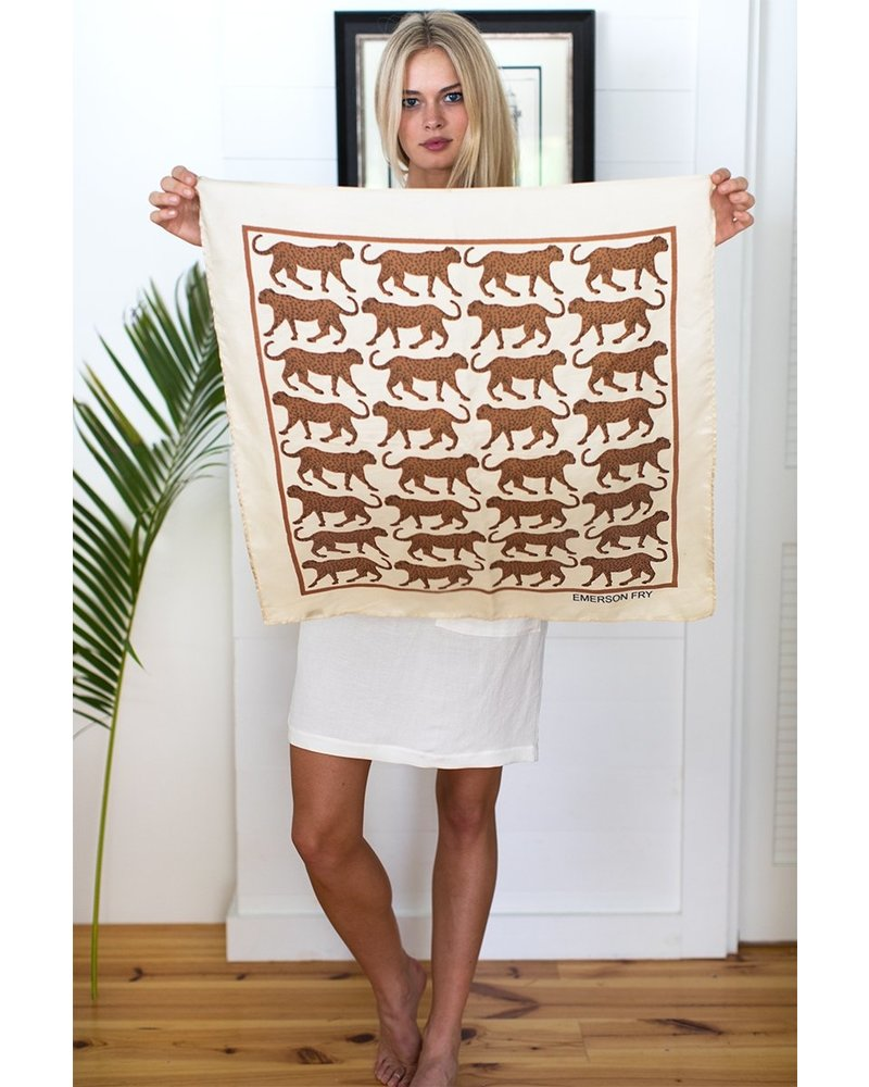Emerson Fry Iconic Scarf Walking Cheetah