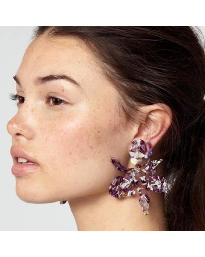 Lele Sadoughi Paper Lily Earrings