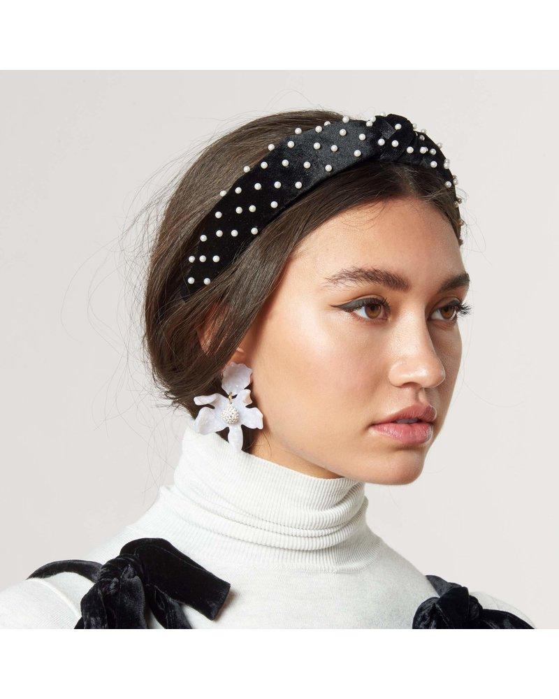 Lele Sadoughi Petite Velvet Decorated Knotted Headband