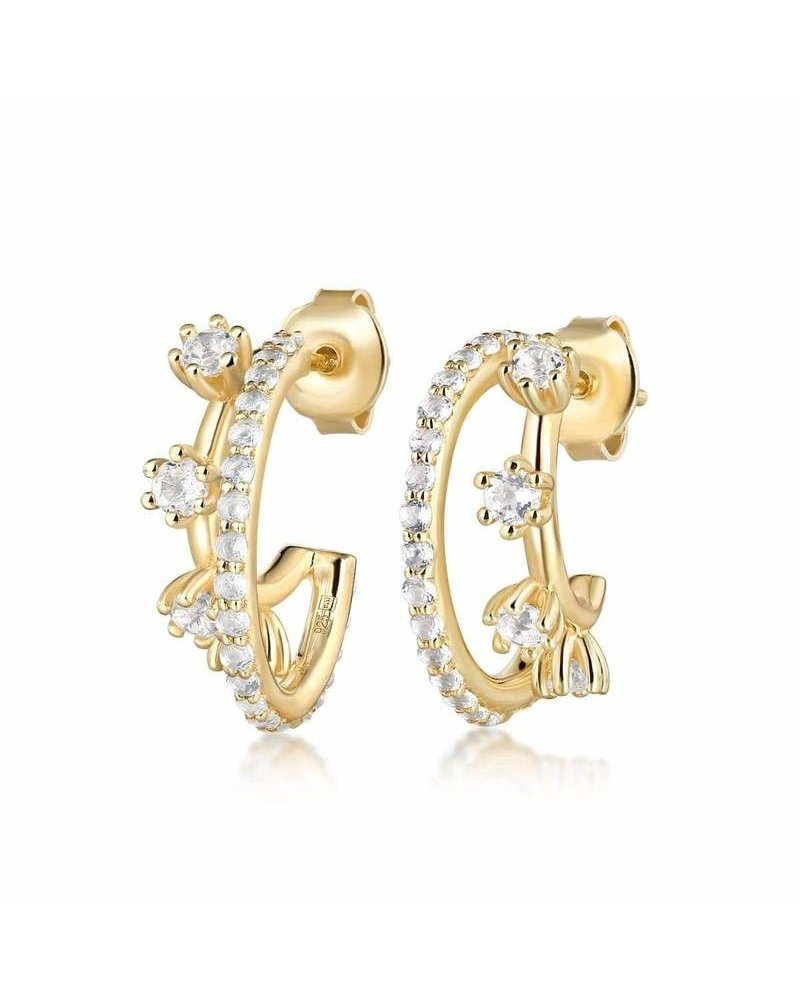 F+H Double Trouble Gemstone Hoops