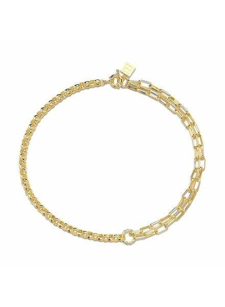 F+H Slash Double Chain Necklace