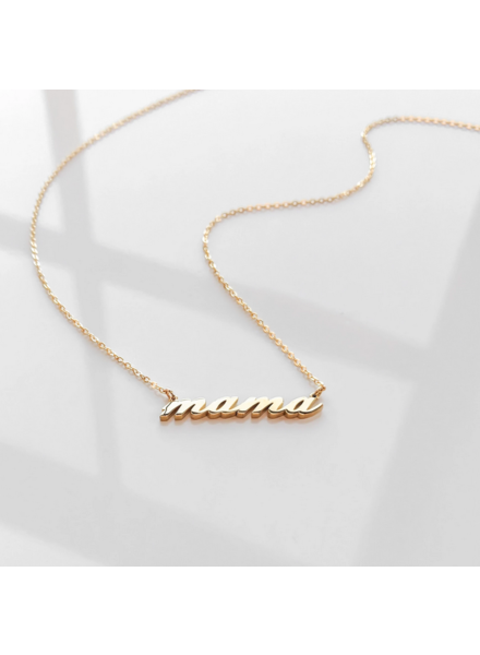 Thatch Mama Script Necklace