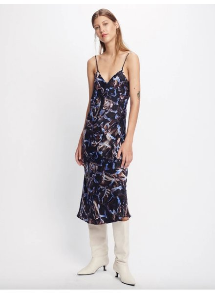 Silk Laundry Printed 90's Silk Slip Dress