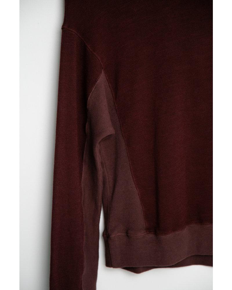 Monrow Supersoft Sweatshirt w/ Contrast Rib