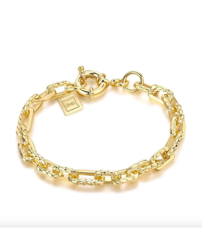 F+H Ramones Hammered Chain Bracelet