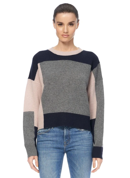 360 Cashmere Saharah Colorblock sweater