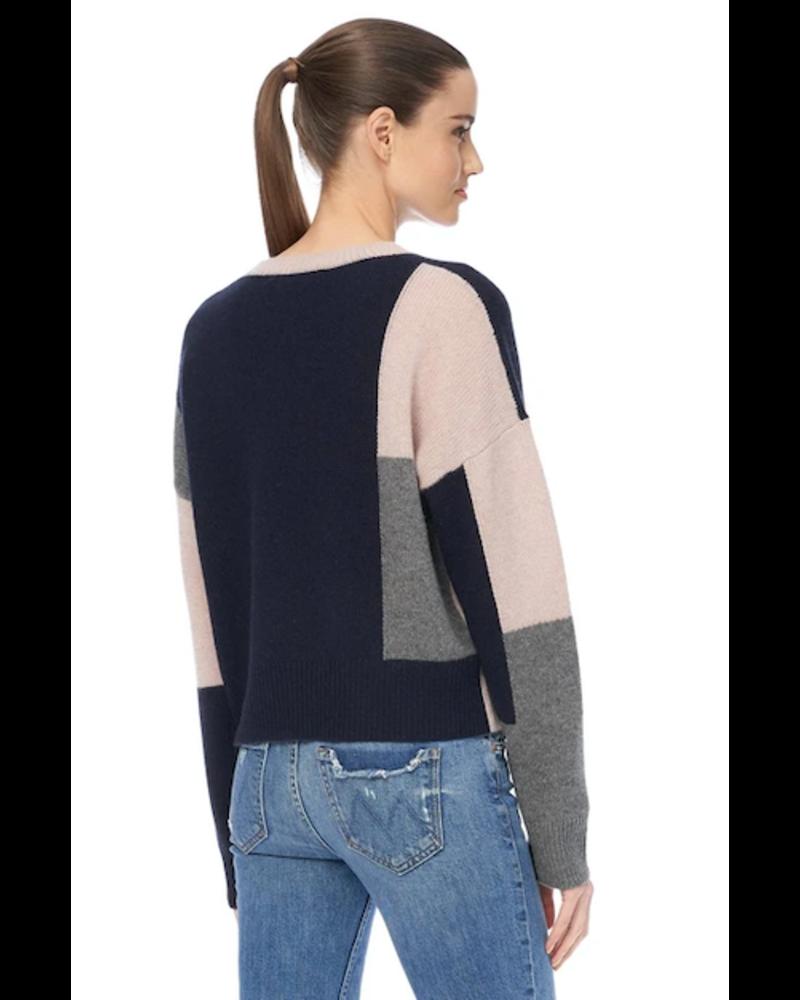 360 Cashmere Saharah Colorblock sweater