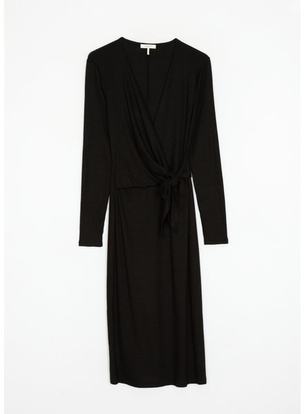 Rag & Bone Knit Rib-Tie Midi Dress