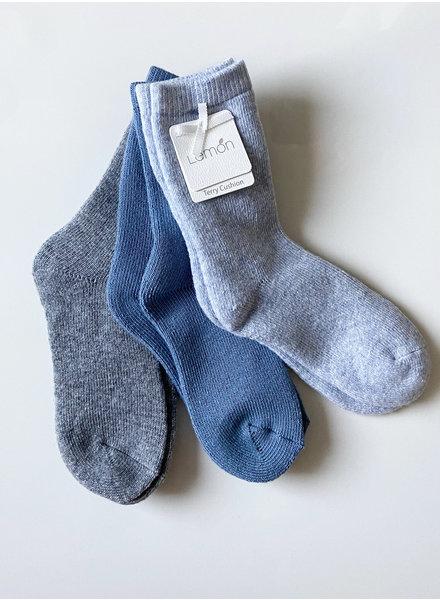 Lemon Loungewear 3-pk Hiker Boot Crew Socks