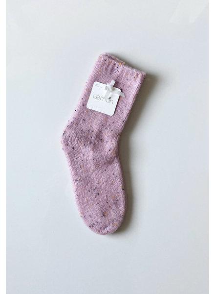 Lemon Loungewear Tweed Boot Socks