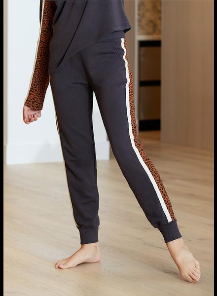 Monrow Supersoft Fleece Panel Sweat Pants