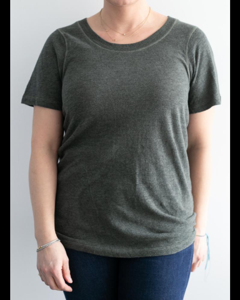 Monrow Granite Jersey Crew Neck T-Shirt