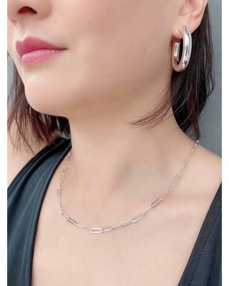 Sarah J Holmes Paper Clip Chain Silver