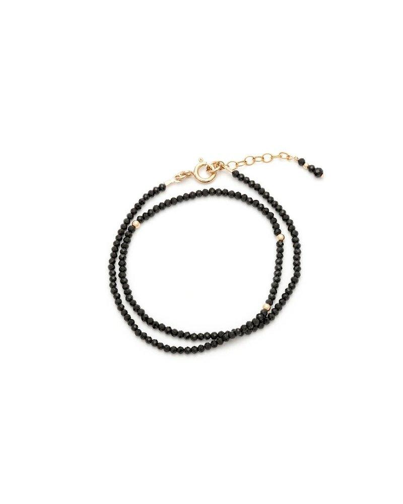 Sarah J Holmes Ariana Black Spinel Bracelet