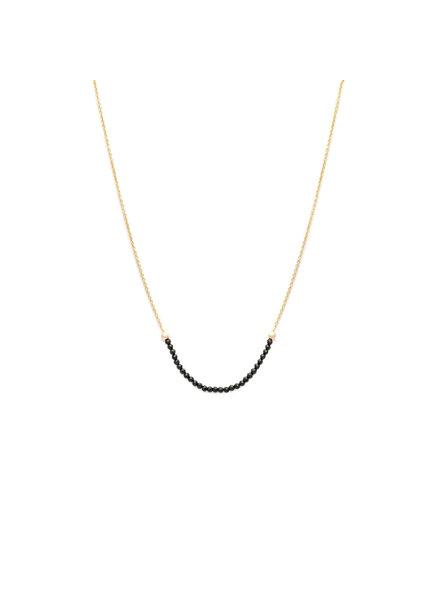 Sarah J Holmes Ariana Black Spinel Necklace