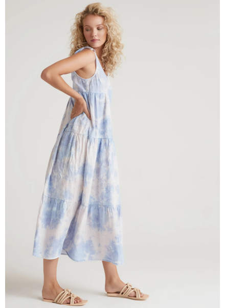 Bella Dahl Tie Shoulder Maxi Tier Dress