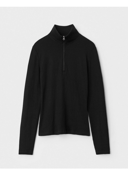Rag & Bone The Knit rib half zip tneck
