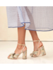 Loeffler Randall Camellia Pleated Knot Heeled Sandal