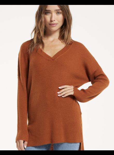 Z Supply Avalon Rib V-Neck Sweater