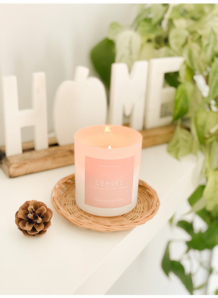 Northern Rose Leaves Candle