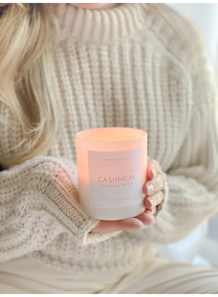 Northern Rose Cashmere Candle