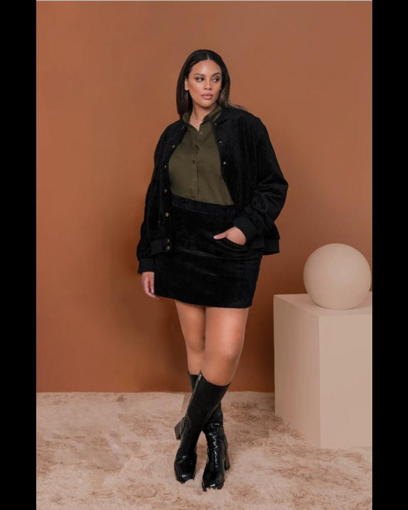 Hilary Macmillan Cord Mini Skirt