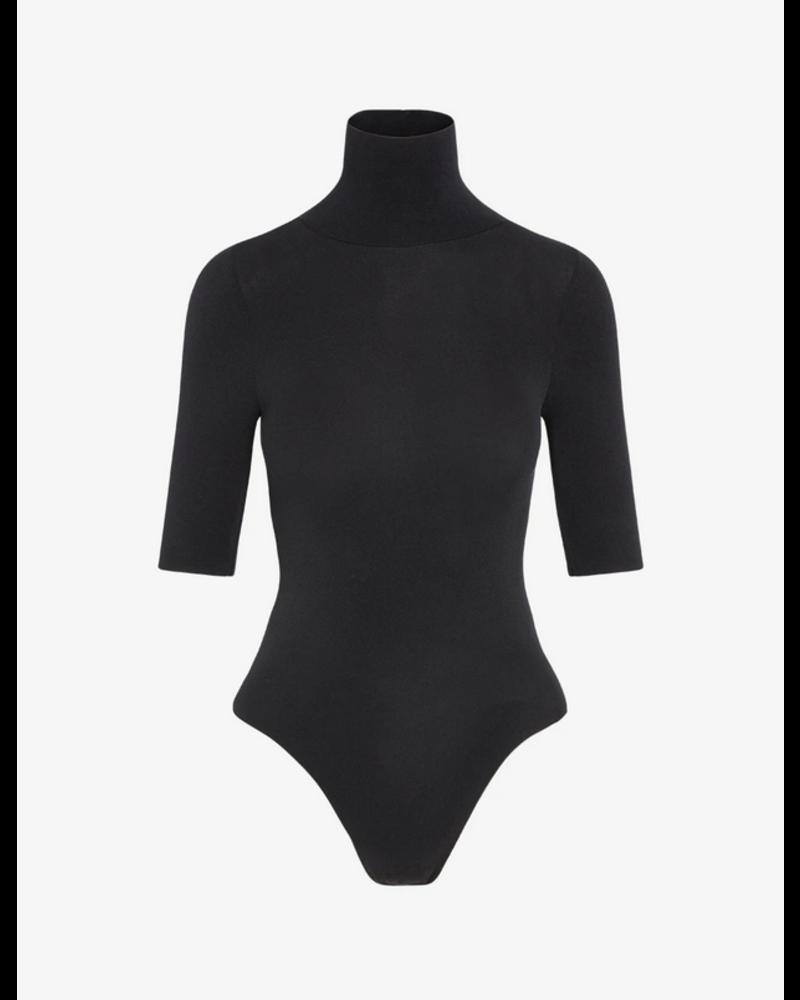 Commando Ballet Short Sleeve Turtleneck Bodysuit