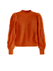 525 America Cotton Cable Puff Sleeve Mockneck
