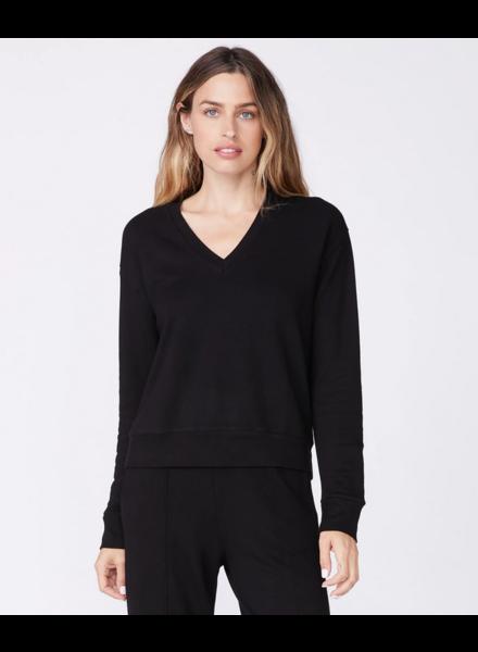Monrow Supersoft  Fleece V-Neck Sweatshirt