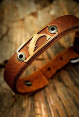 Sight Line Provisions SLP Leather Skinny Bracelet Trout -