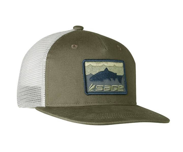 Sage Sage Patch Trucker Cap - Olive Green - Angler s Covey 1c9f5bb2791