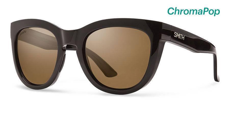 d279d0a5c3 Smith Sport Optics Smith Sidney Sunglasses - Black Frame w  Chromapop  Polarized Brown Lens