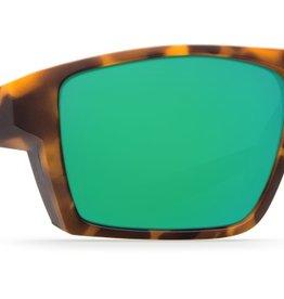 42882beaee5 Costa Del Mar Costa Bloke Sunglasses Matte Retro Tortoise Matte Black Frame  Green Mirror 580G Lens
