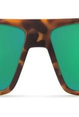 ad11958e9113b Costa Del Mar Costa Bloke Sunglasses Matte Retro Tortoise Matte Black Frame Green  Mirror 580G Lens