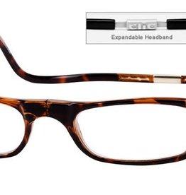 Clic Goggles Clic Magnetic Closure Expandable Reading Glasses Dark Demi