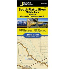 Anglers Covey National Geographic Map 2301 South Platte River Middle Fork Alma to 11 Mile Canyon