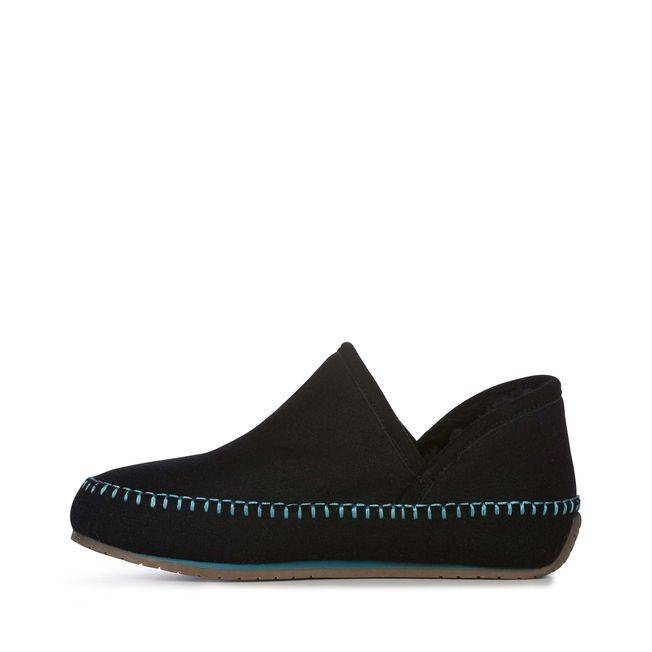 EMU EMU Women's Lochlan Slippers Black/Teal