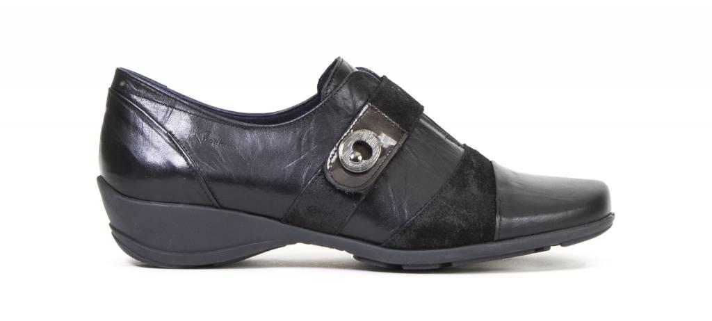 Dorking Dorking Agatha Shoe Black/Patent Toe